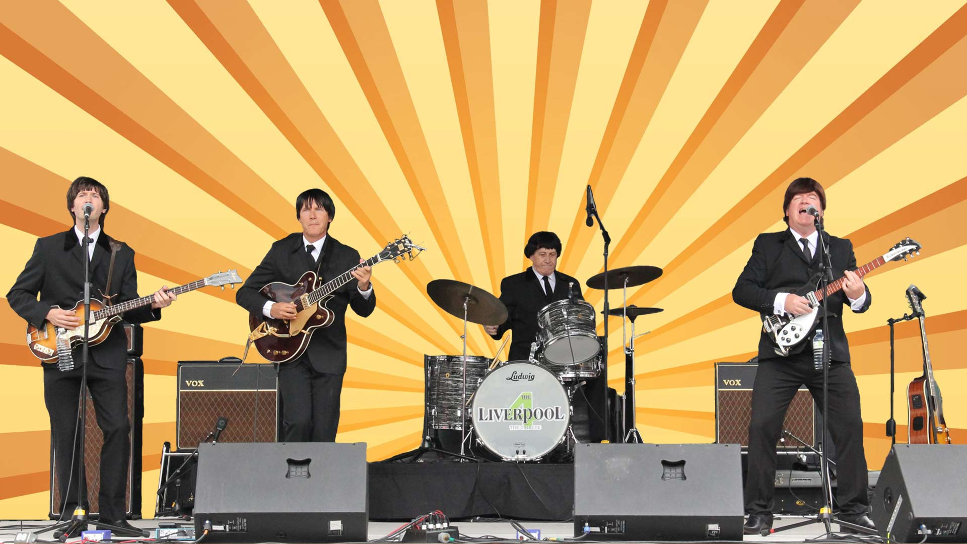 The Liverpool 4 Canadian Beatles Tribute Band Performs At Toronto Zoomer Show